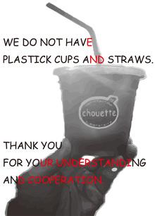 プラスチック製ストロー&カップ 廃止のお知らせ